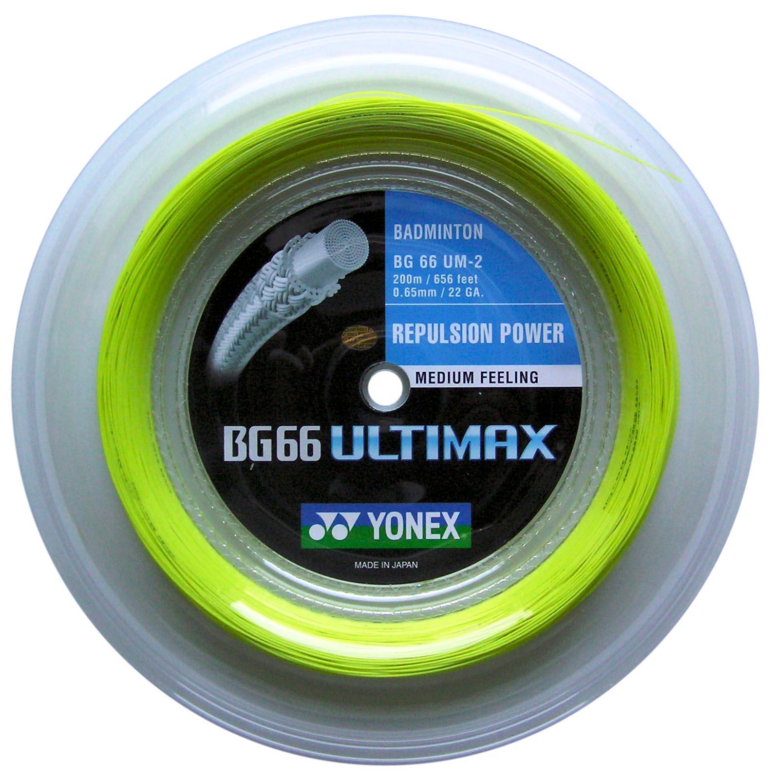 Badmintonový výplet BG 66 Ultimax 200 m - žlutý NOVINKA